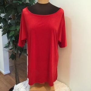 🎈. Rebecca Malone Red XL short sleeve blouse